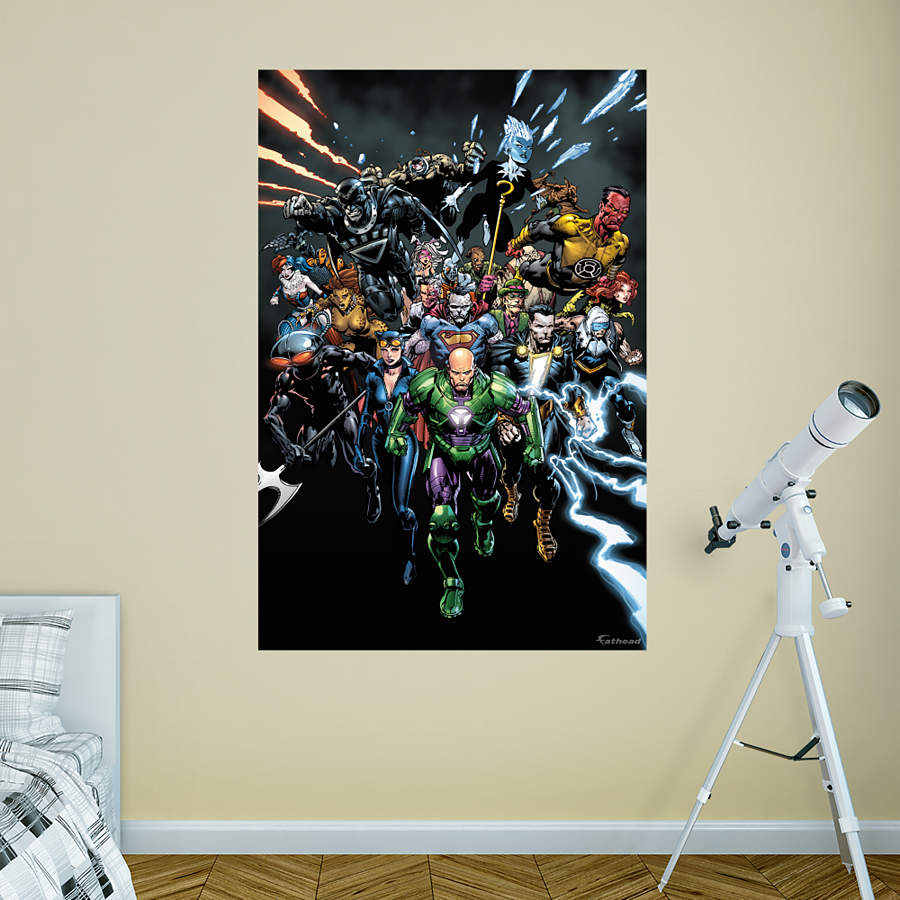 DC Comics Villains Mural Wall Decal