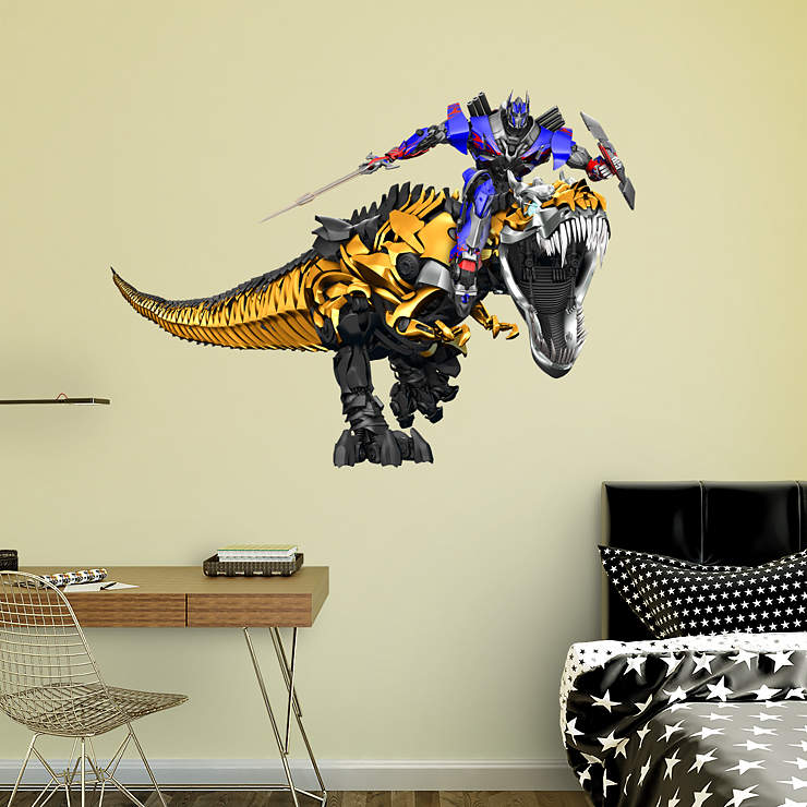 Grimlock Amp Optimus Prime Age Of Extinction Wall Decal