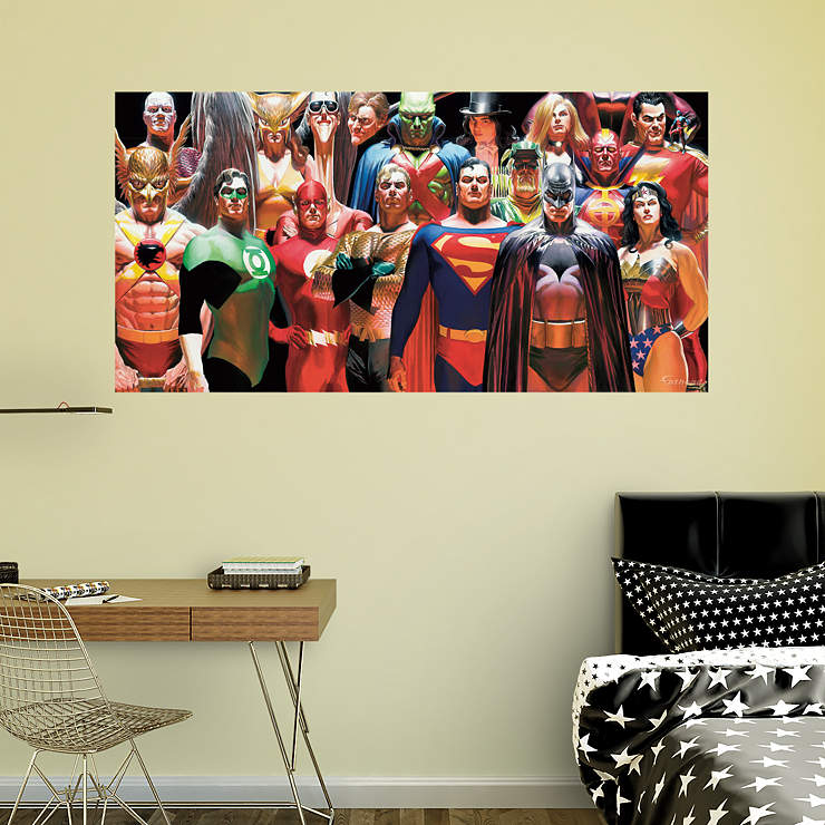 DC Comics Heroes Mural Wall Decal