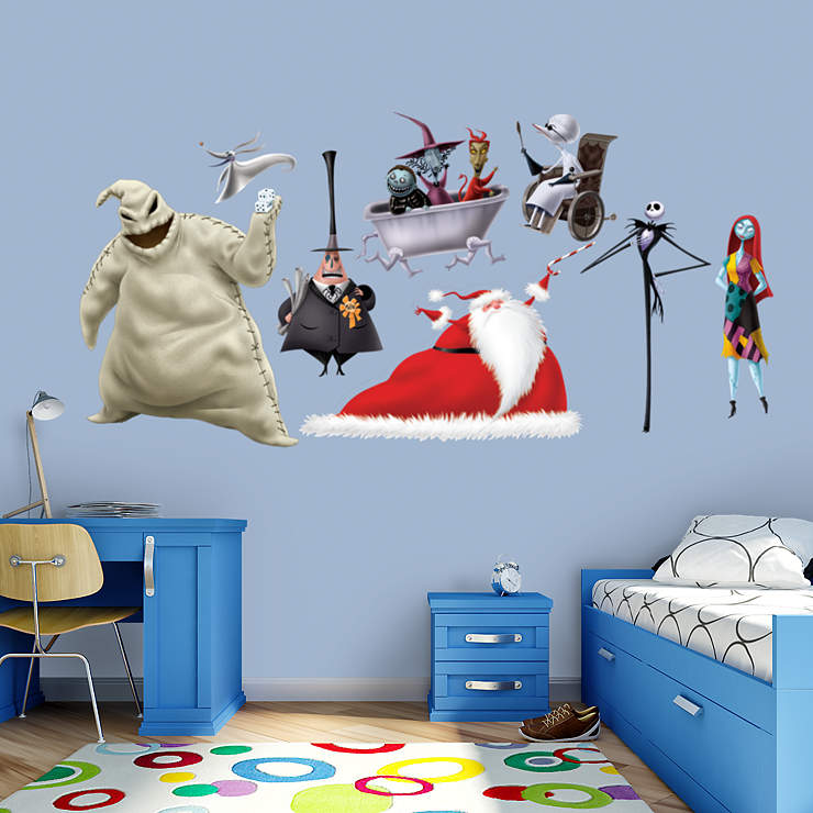 Jack Skellington Bedroom Decor Double Bedroom Interior Design Bedroom Paint Ideas Modern Bedroom Chairs Near Me: Nightmare Before Christmas Collection Wall Decal