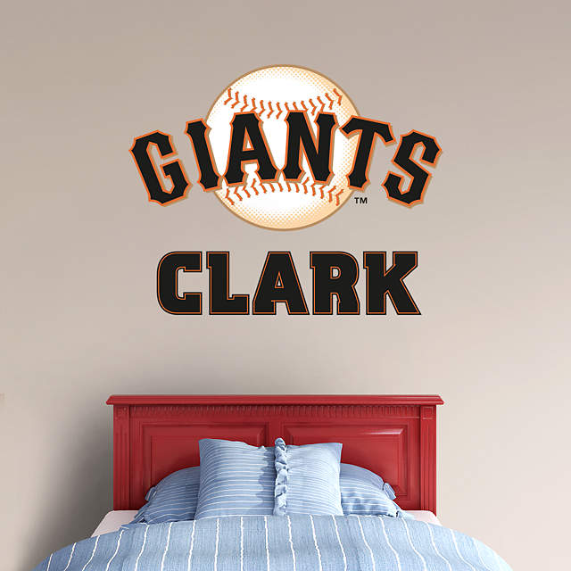 san francisco giants stacked personalized name wall decal shop