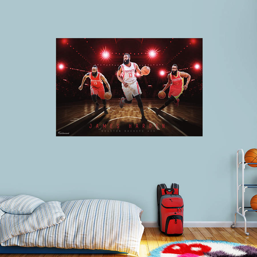 James Harden Montage Mural Wall Decal Shop Fathead 174 For