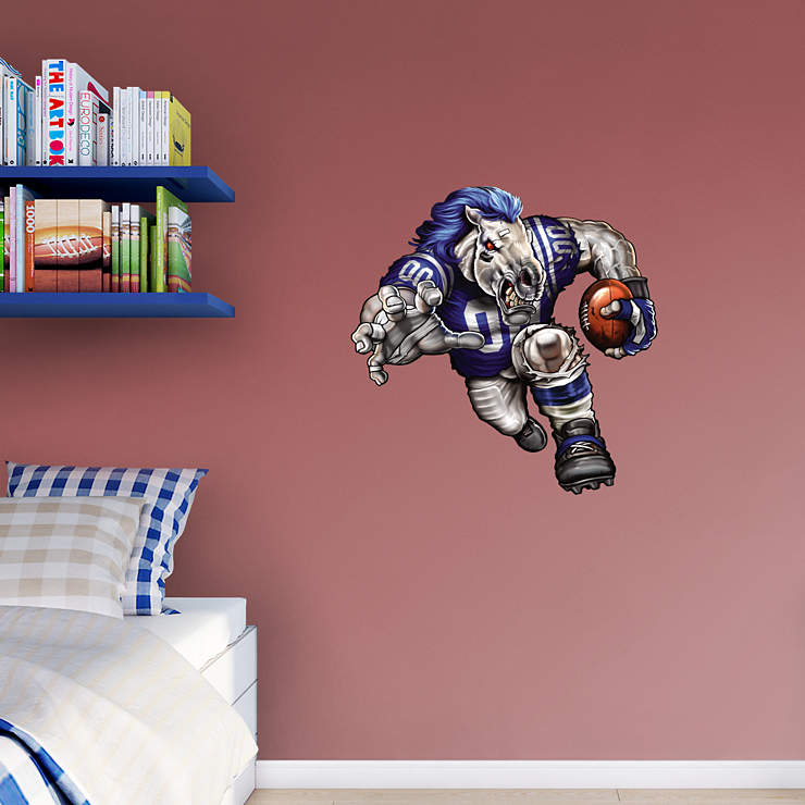 Crazed colt wall decal shop fathead for indianapolis for Colts bedroom ideas
