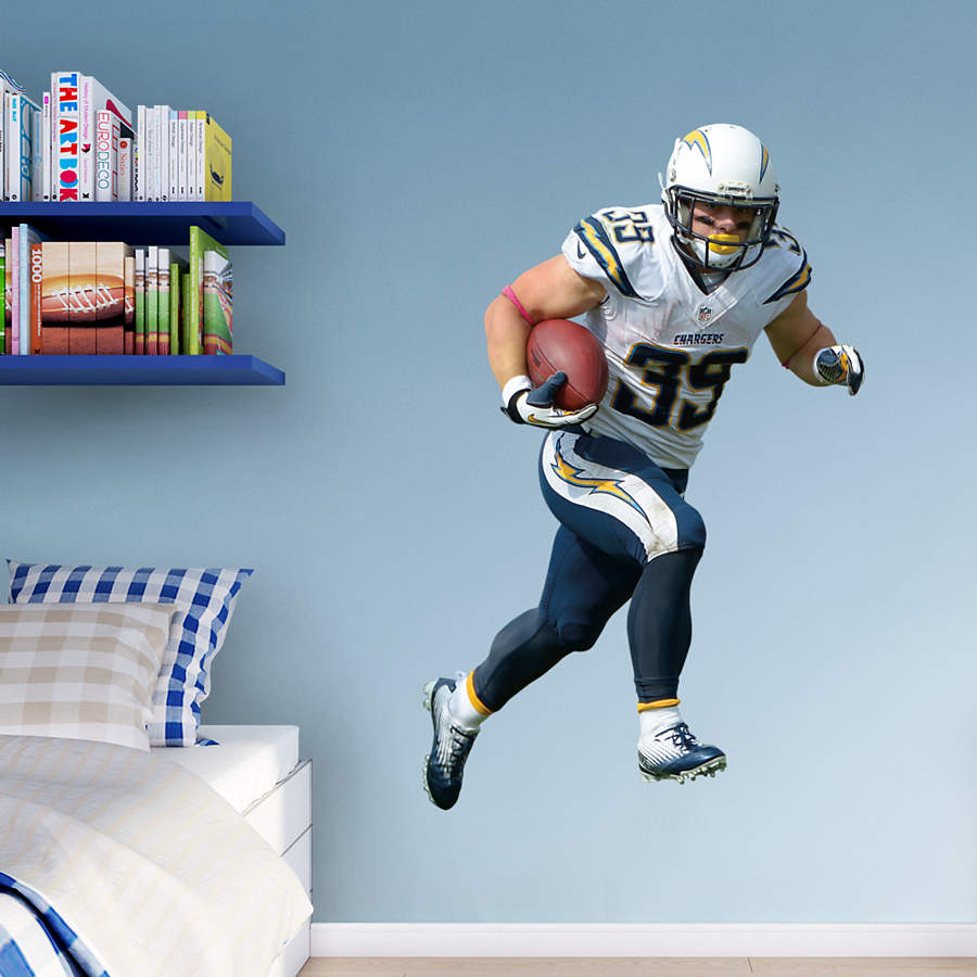 San Diego Chargers Football Team: Life-Size Danny Woodhead Wall Decal