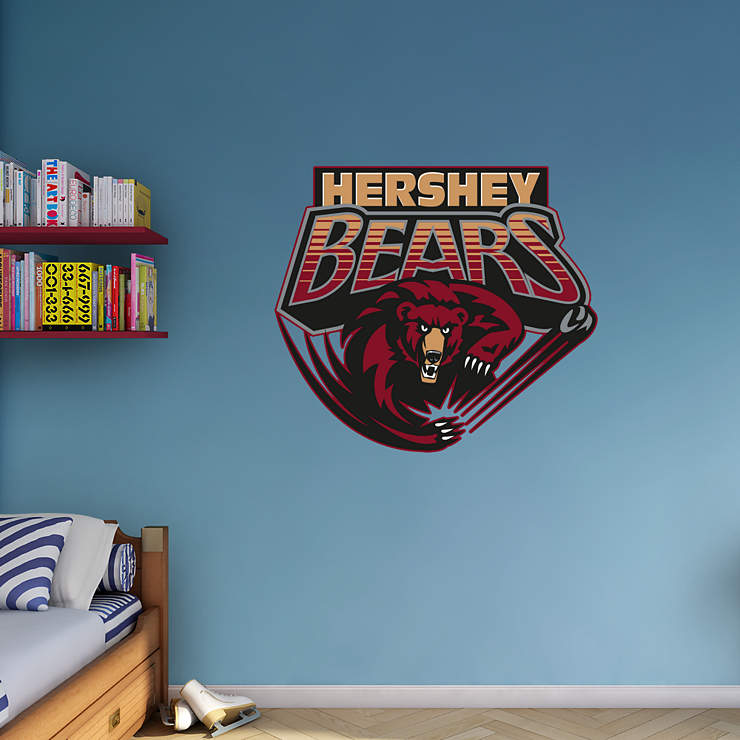 Hershey bears logo wall decal shop fathead for hershey for Beaver stadium wall mural