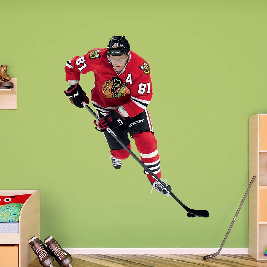 Life size marian hossa wall decal shop fathead for for Chicago blackhawk bedroom ideas