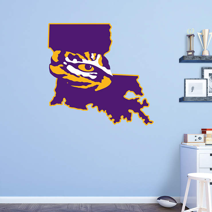 Classroom Decor Canada ~ Lsu tigers state of louisiana logo wall decal shop