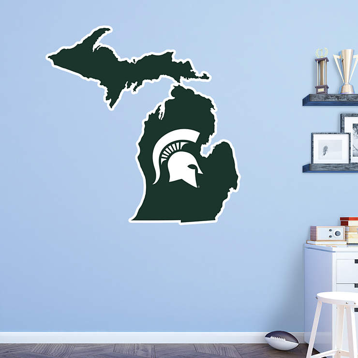 Home Decor Stores Michigan: State Of Michigan Logo Wall