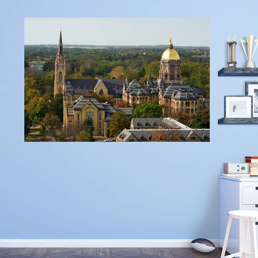 Notre dame campus mural wall decal shop fathead for for Notre dame home decor
