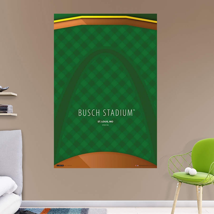 Busch stadium minimalist art mural wall decal shop for Minimalist wall art