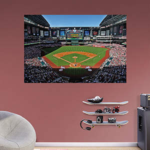 Baseball stadium murals fathead wall graphics for Baseball field mural