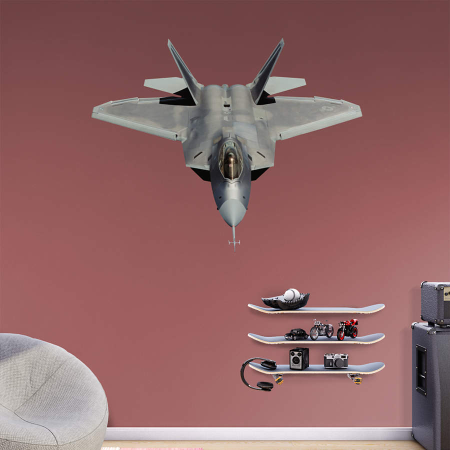F 22 raptor wall decal shop fathead for air force decor for Air force decoration