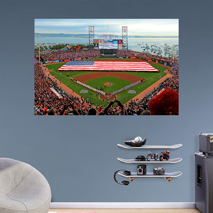 At t park american flag mural wall decal shop fathead for American flag wall mural