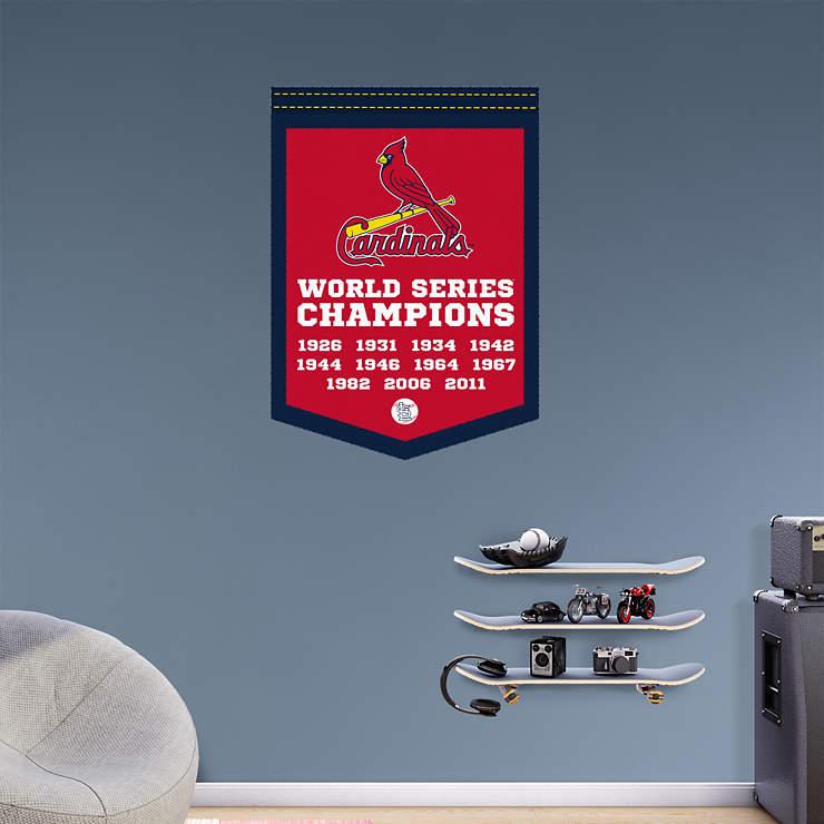 St Louis Cardinals World Series Champions Banner Wall