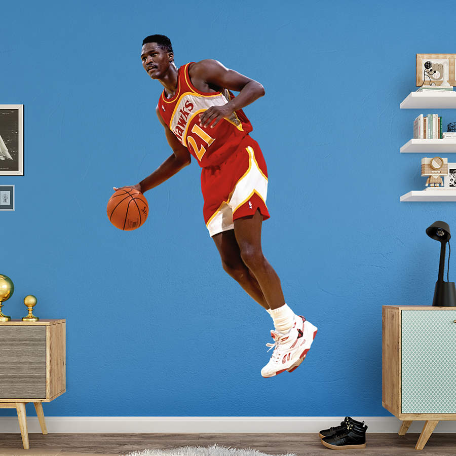 Life-Size Dominique Wilkins Wall Decal