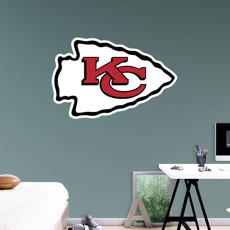 Classroom Decor Numbers ~ Kansas city chiefs logo wall decal shop fathead for