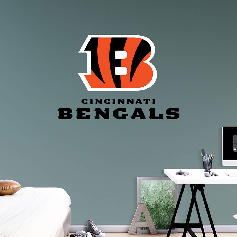 Cincinnati bengals b logo transfer decal wall decal for Bengalas 50 cm