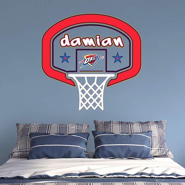 Okc Thunder Bedroom Decor: Oklahoma City Thunder Personalized Name Wall Decal