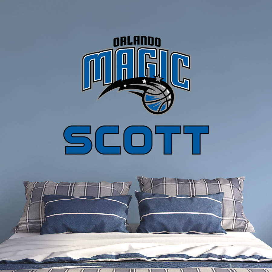 Orlando Home Decor Stores: Orlando Magic Stacked Personalized Name Wall Decal