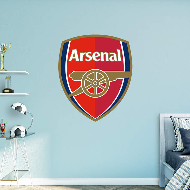 Arsenal crest wall decal shop fathead for arsenal decor for Emirates stadium mural