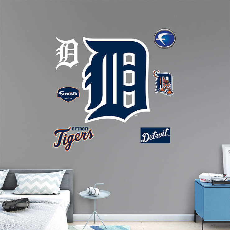 """Detroit Tigers """"Olde English D"""" Logo Wall Decal"""