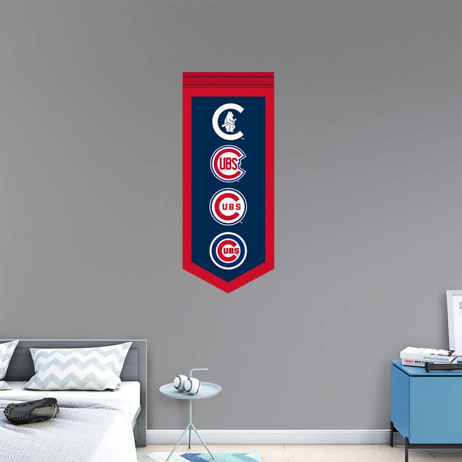 Chicago Cubs Logo Evolution Banner Wall Decal Shop