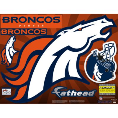 Denver Broncos Street Grip Outdoor Decal