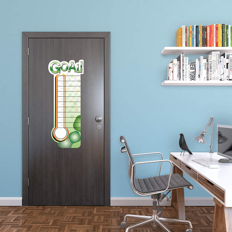 Dry Erase Fundraising Thermometer Wall Decal Shop