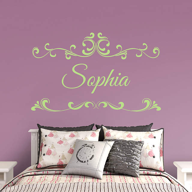 Scroll Script Personalized Name Wall Decal
