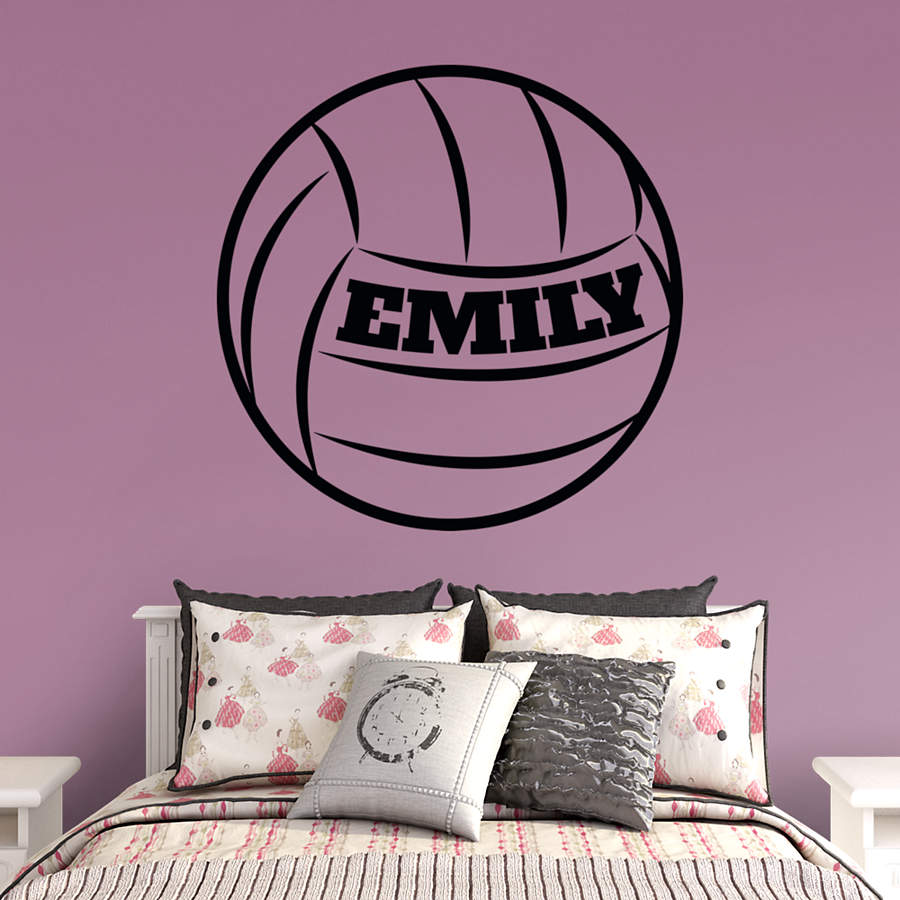 volleyball personalized name wall decal shop fathead. Black Bedroom Furniture Sets. Home Design Ideas