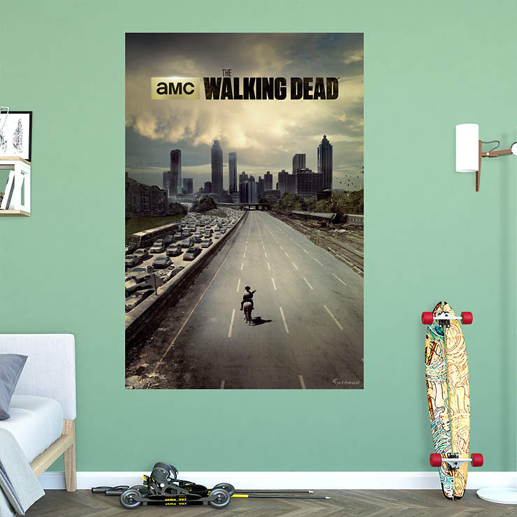 The walking dead freeway mural wall decal shop fathead for Mural walking dead
