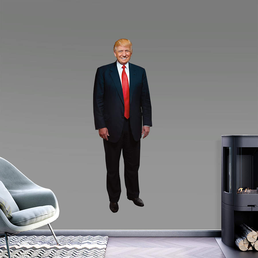 Life Size Donald Trump Wall Decal Shop Fathead 174 For