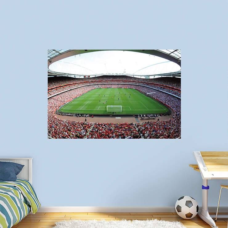 Arsenal emirates stadium mural wall decal shop fathead for Arsenal mural emirates