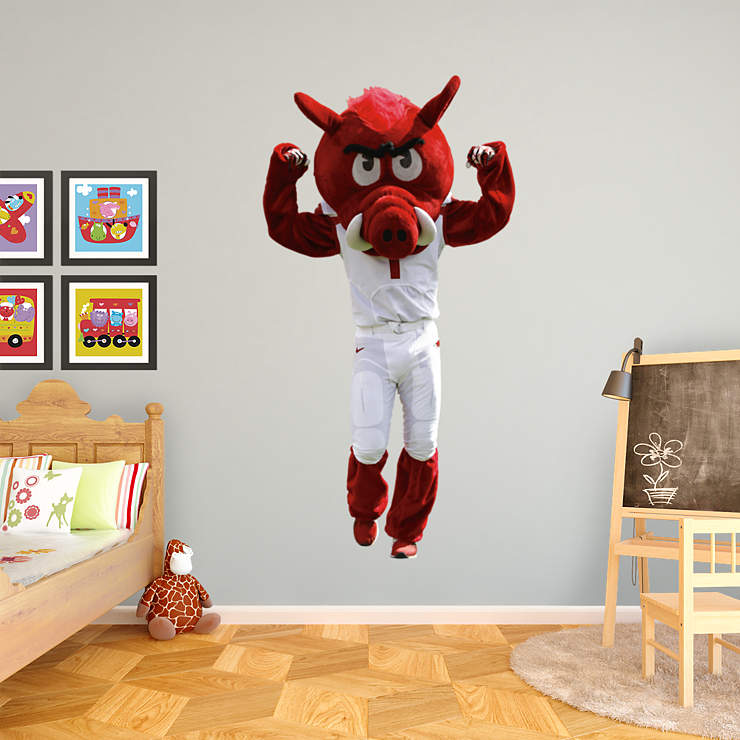 Razorback Classroom Decor : Arkansas mascot big red wall decal shop fathead for