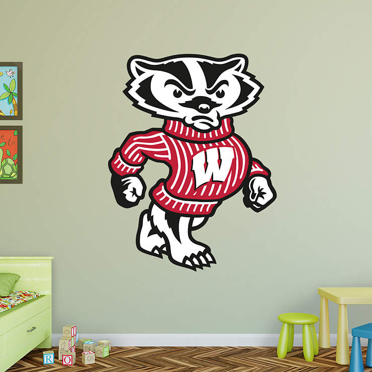 Wisconsin Badgers Mascot Bucky Badger Wall Decal Shop