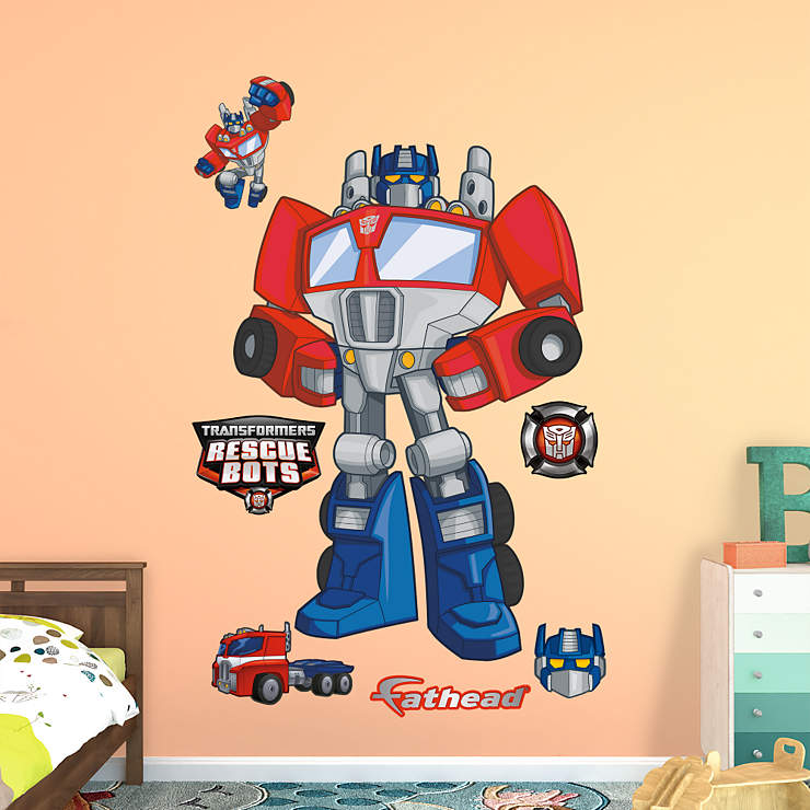 Optimus Prime Rescue Bots Wall Decal Shop Fathead 174 For