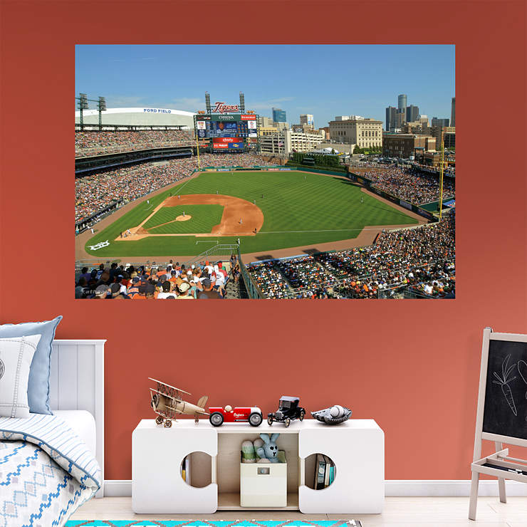 inside comerica park 2012 mural wall decal shop fathead