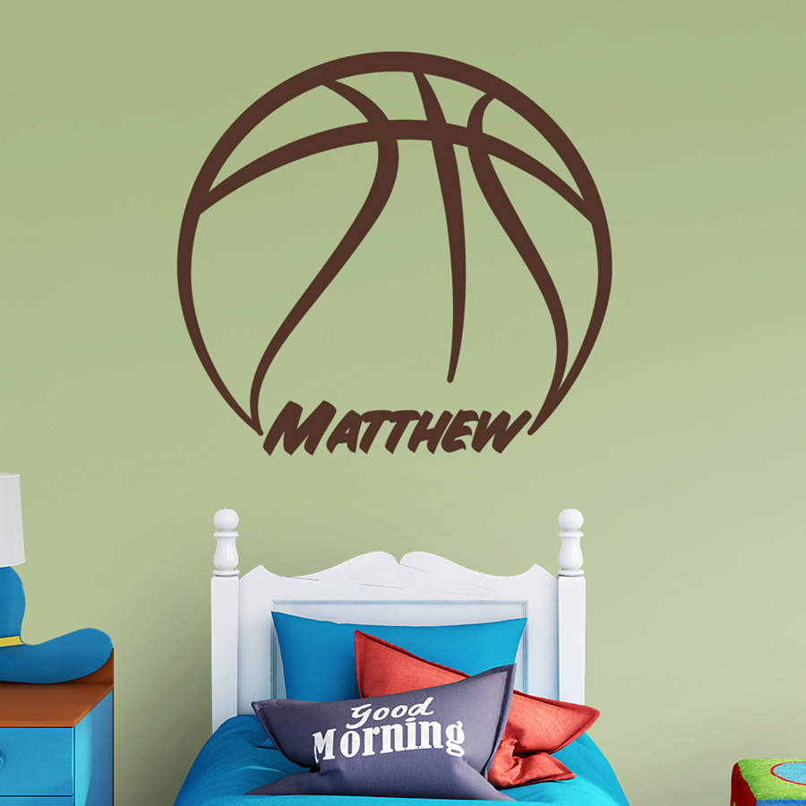 Basketball Personalized Name Wall Decal Shop Fathead For Wall Art D Cor