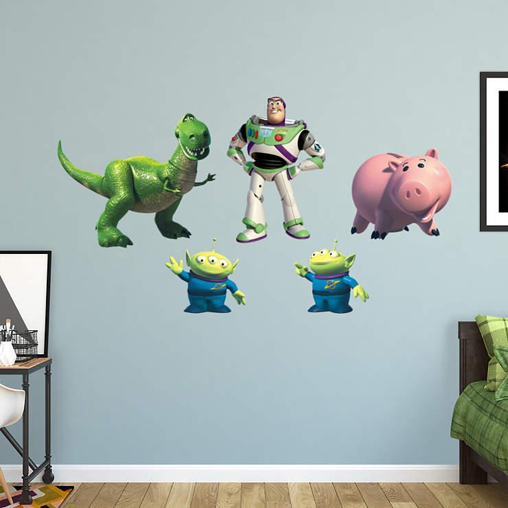 Buzz lightyear friends wall decal shop fathead for for Buzz lightyear wall mural
