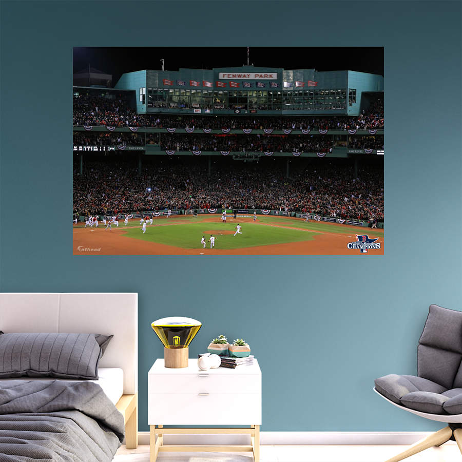 Boston red sox 2013 world series fenway celebration for Boston wall mural
