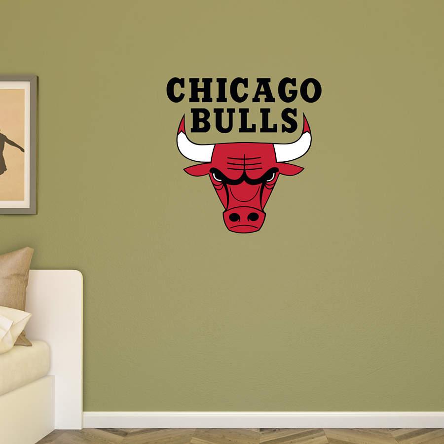 Chicago Bulls Logo Transfer Decal Wall Decal Shop Fathead For Wall Art D Cor