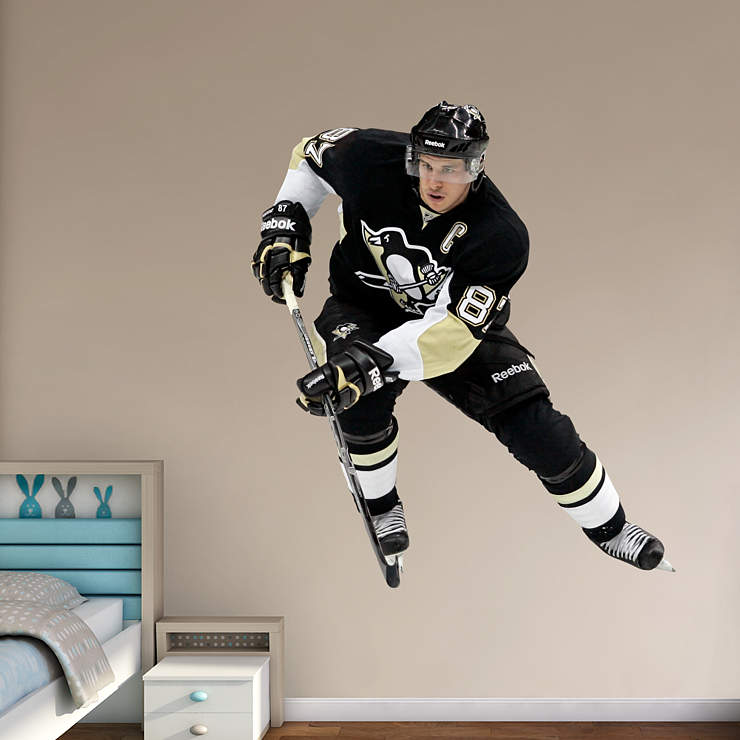 Life-Size Sidney Crosby - No.87 Wall Decal | Shop Fathead ...