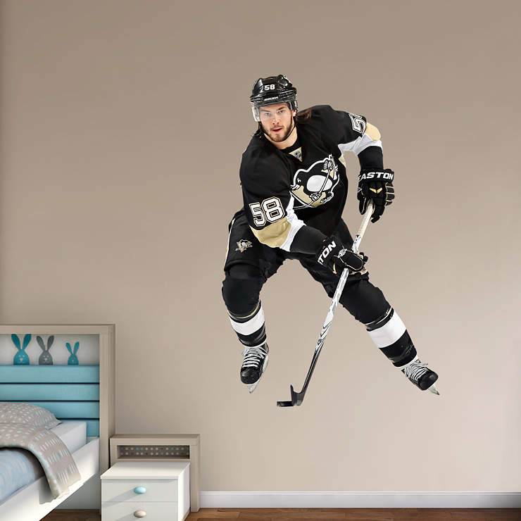 Life Size Kris Letang Wall Decal Shop Fathead For Pittsburgh Penguins Decor