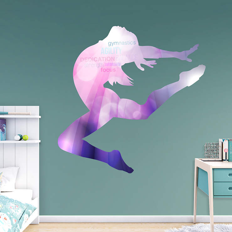 Gymnastics Silhouette Wall Decal