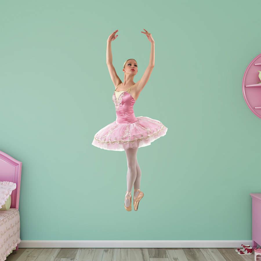 Ballerina wall decal shop fathead for ballet decor for Ballerina decoration