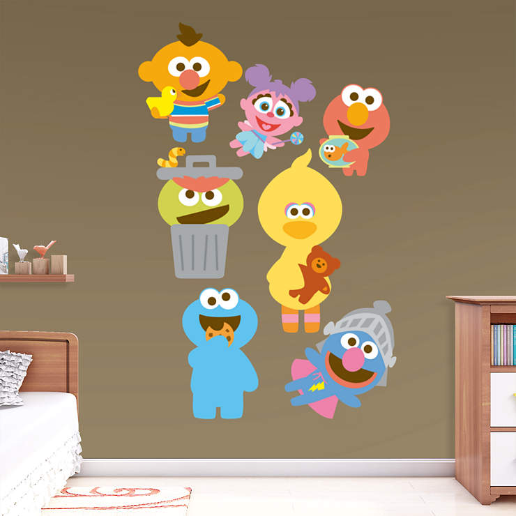 sesame street baby collection wall decal shop fathead for sesame street decor. Black Bedroom Furniture Sets. Home Design Ideas