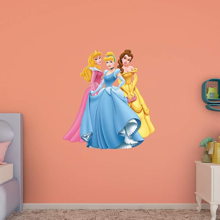Aurora Cinderella Amp Belle Wall Decal Shop Fathead 174 For