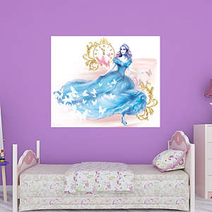 Cinderella movie wall decal shop fathead for cinderella for Cinderella wall mural