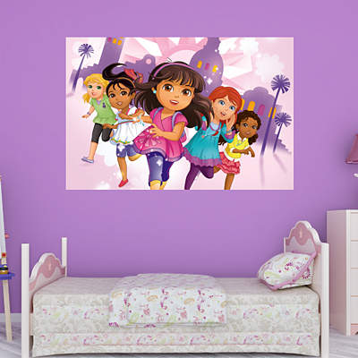 Dora friends collection wall decal shop fathead for for Dora the explorer wall mural
