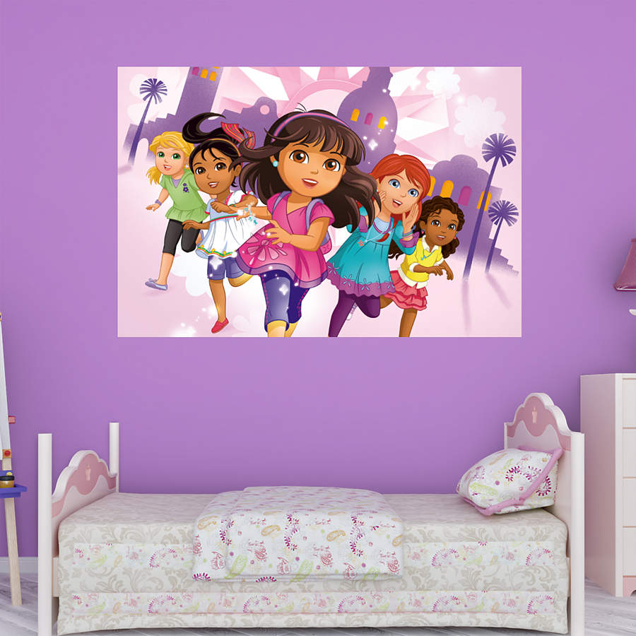 dora friends mural wall decal shop fathead for dora